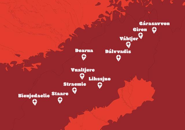 Karta över platser vi besöker